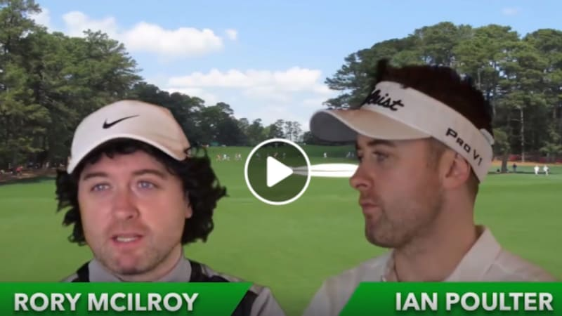 Moore imitiert McIlroy und Poulter (Foto: Facebook/GolfChannel)