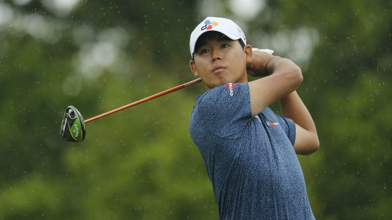Si Woo Kim führt die Valero Texas Open der PGA Tour drei Runden in Folge an. (Foto: Getty)