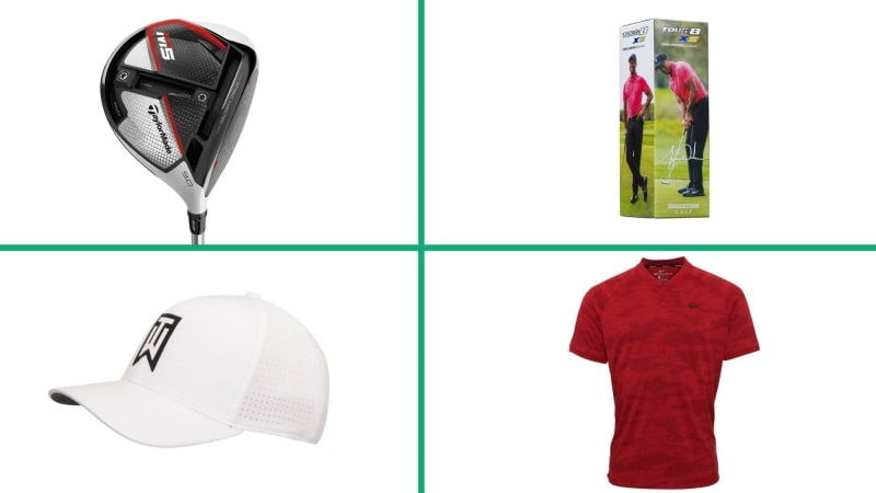 Die Styles und Schläger des Masters Champion Tiger Woods im Angebot. (Foto: Nike/TaylorMade/Bridgestone)