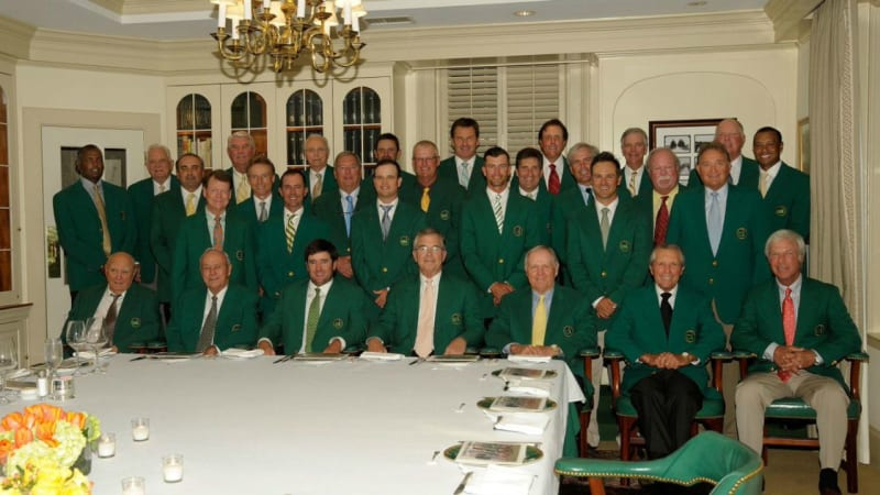 Ehemalige Sieger des US Masters treffen sich jedes Jahr zum Champions DInner im Augusta National Golf Club. (Foto: Twitter.com/@TheMasters)