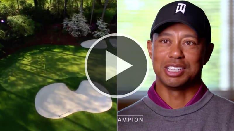 Die Amen Corner im Augusta National kann einem beim US Masters 2019 um den Sieg bringen. Tiger Woods erklärt, wie man sie spielt. (Foto: Twitter/@GOLFTV)