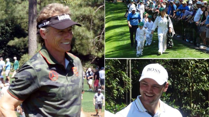 Bernhard Langer (l.) und Martin Kaymer (r.) beim Par-3-Contest des Us Masters 2019. (Fotos Golf Post)