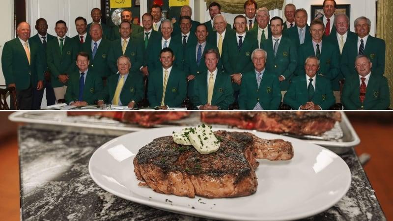 Patrick Reed lud die ehemaligen Masters-Sieger zum Champions Dinner ein und servierte Rib-Eye-Steaks. (Foto: Twitter/@TheMasters)