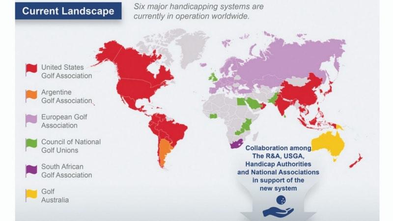 Landkarte des aktuellen World-Handicap-System (Foto: DGV/Worldhandicapsystem 2019)