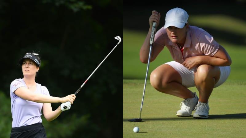 Sandra Gal und Carolina Masson spielen sich bei der Pure Silk Championship souverän ins Wochenende. (Foto: Getty)