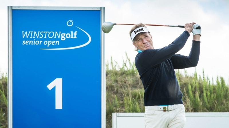 Bernhard Langer im Interview im Vorfeld der Winstongolf Senior Open. (Foto: Stefan von Stengel)