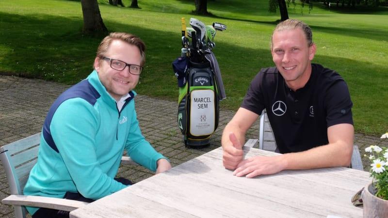 Matthias Gräf trifft Marcel Siem zum Interview in seinem neuen Showroom. (Bildquelle: Marcel Siem Golf Experience)