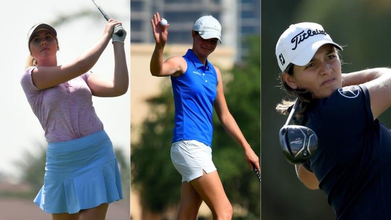 Olivia Cowan, Esther Henseleit und Karolin Lampert überzeugen in Dubai auf der Ladies European Tour. (Foto: Getty)