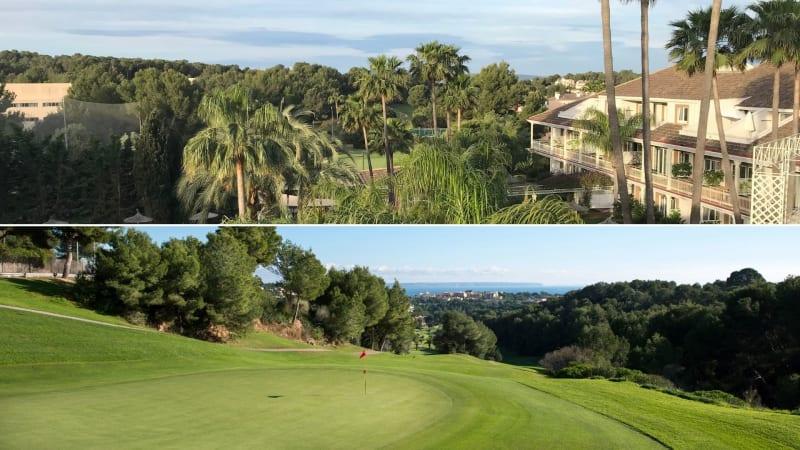 Oben: Der Ausblick vom Balkon des Lindner Golf Resort. Unten: Der Real Golf de Bendinat - welcher direkt am Lindner Resort angrenzt. (Foto: Golf Post/Lindner)