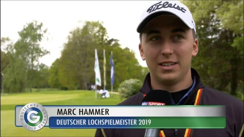 Marc Hammer vom GC Mannheim Viernheim ist Deutscher Lochspielmeister! (Bild: GC Mannheim Viernheim)
