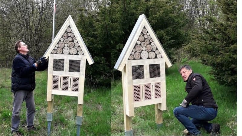 Der GC Varus hat Luxus-Hotels für seine Insekten aufgestellt. (Bild GC Varus)