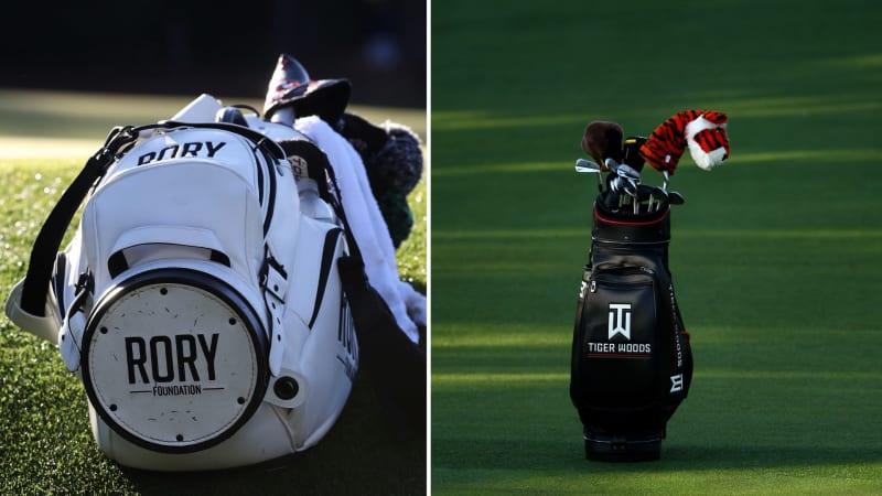Auf den Touren nicht mehr wegzudenken, die Namen auf den Golfbags. (Bildquelle: Getty)