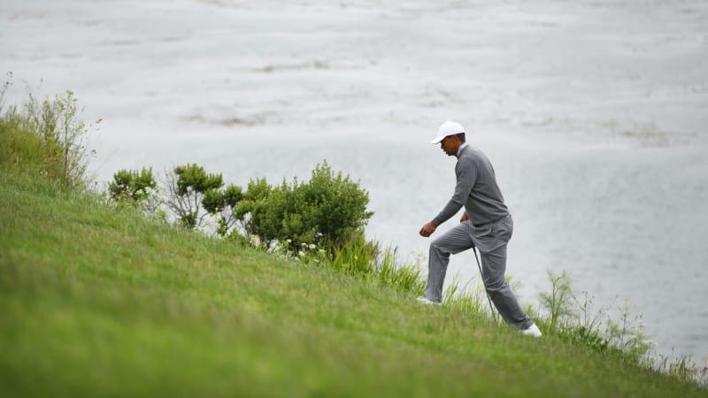 Für Tiger Woods ist der Moving Day bei der US Open Golf 2019 eine Achterbahnfahrt. (Foto: Getty)