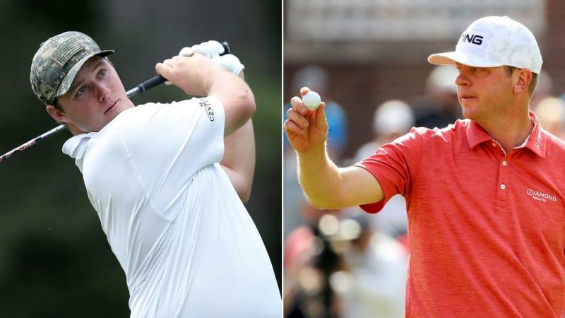 Sepp Straka (li.) und Nate Lashley auf der PGA Tour bei der Rocket Mortage Classic 2019. (Foto: Getty)