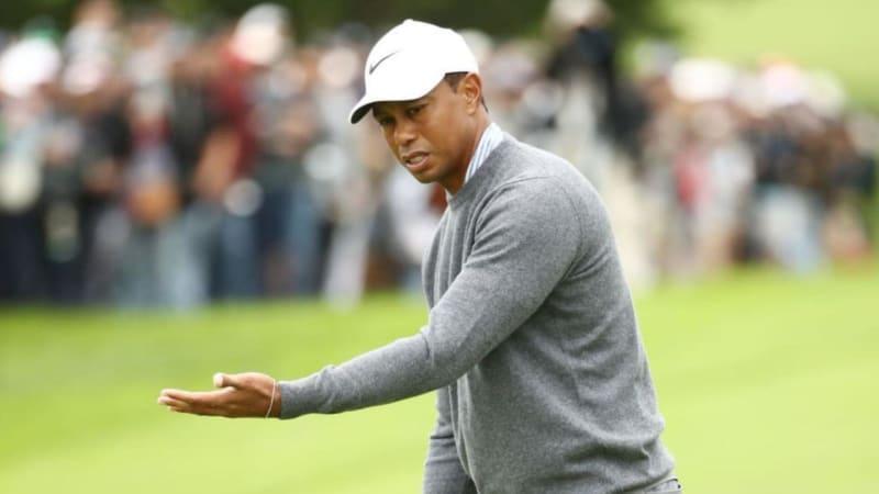 Tiger Woods hadert nach einem verpassten Putt. (Foto: Getty)