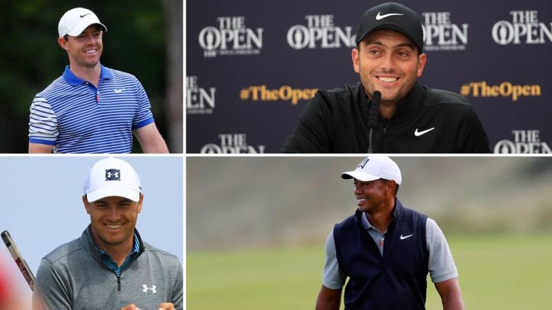 Tiger Woods, Rory McIlroy, Jordan Spieth und Francesco Molinari gehören zu den Teilnehmern der British Open 2019. (Foto: Getty)