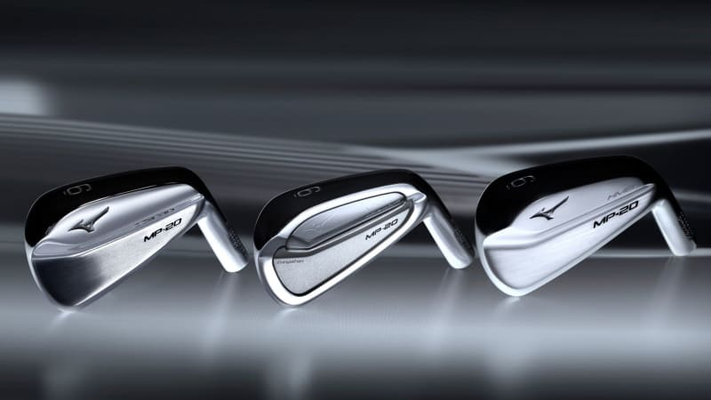 Beauty in Chrome - die Mizuno MP-20 Eisen in gewohnter beeindruckender Optik. (Foto: Mizuno)