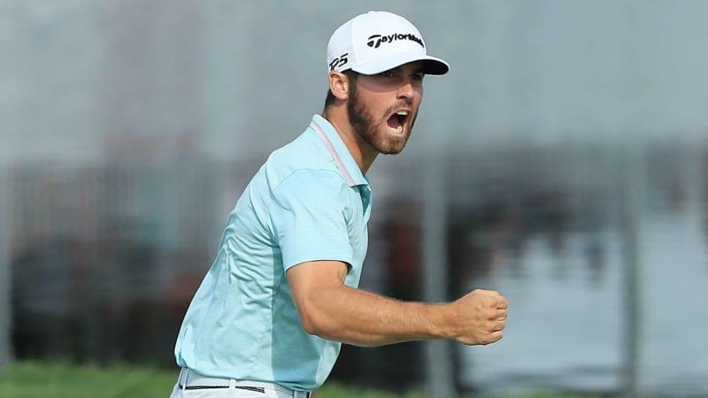 Matthew Wolff zelebriert seinen ersten PGA-Tour-Sieg. (Bildquelle: Getty)