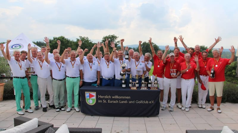 Bei der DMM AK 50 der Herren verteidigt der Bochumer GC seinen Titel. (Foto: St. Eurach Land- und Golfclub)