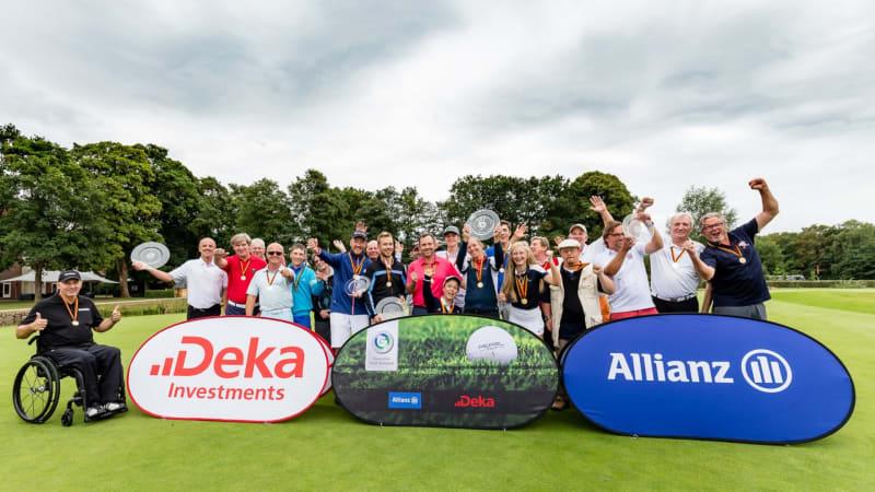 Die Medaillengewinner der 2. IAM der Golfer mit Behinderungen 2018. (Foto: DGV/Tiess)