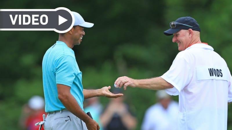 Der Masters-Sieger Tiger Woods und sein Caddy Joe LaCava beantworten die beliebtesten Fragen der Fans im Video. (Foto: Getty)