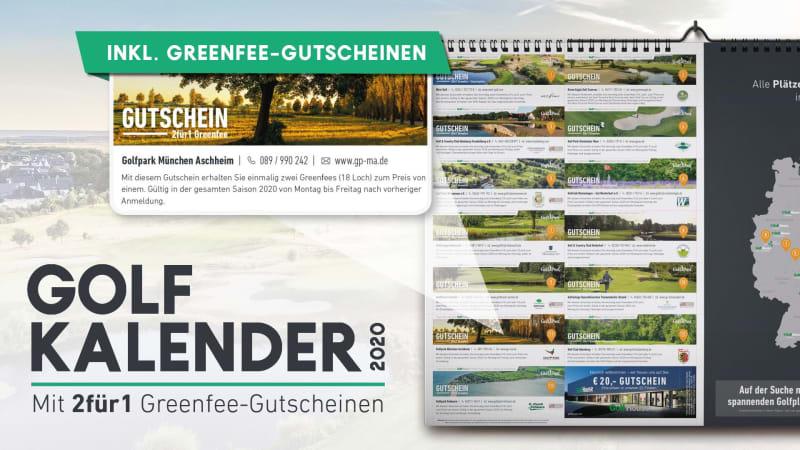 Schnappen Sie sich den Golfkalender 2020 und sichern sich 2für1 Greenfee-Gutscheine. (Foto: Golf Post)
