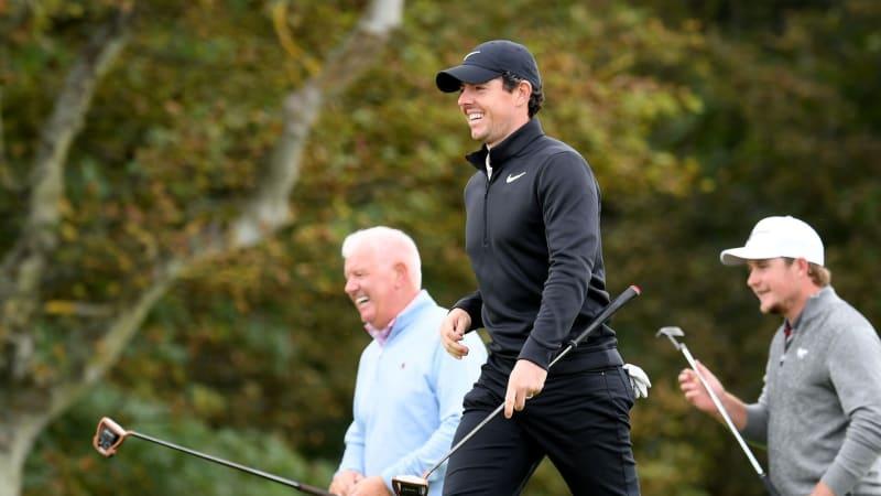 Rory McIlroy an der Seite seines Vaters bei der Alfred Dunhill Links Championship der European Tour. (Foto: Getty)