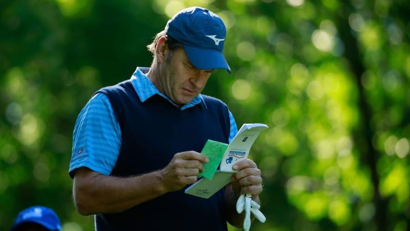 Heute sei die Scorecard nicht mehr sein Freund, sagt Nick Faldo. (Foto: Getty)