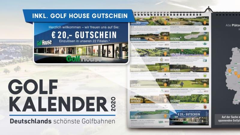 Im Golfkalender 2020 wartet einen 20,- Euro Golf House Gutschein auf Sie. (Foto: Golf Post)