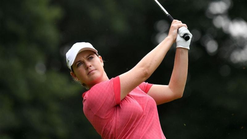 Caroline Masson in guter Position bei der Indy Women in Tech Championship 2019 der LPGA Tour. (Foto: Getty)