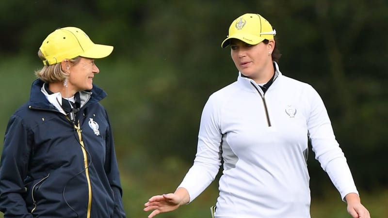 Caroline Masson (r.) mit Solheim Cup Captain Catriona Matthew in Gleneagles. (Foto: Getty)