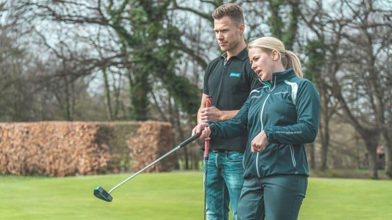 Markus Rehm und Caroline Mohr haben eines gemeinsam: Beide tragen eine Beinprothese. (Foto: Allianz)