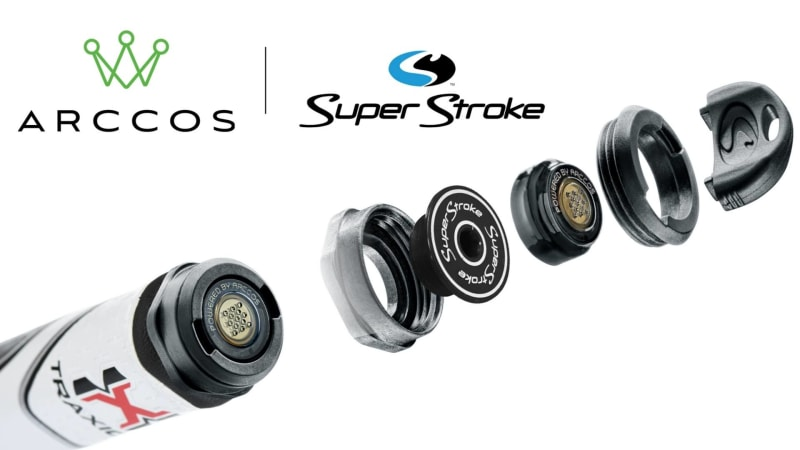 SuperStroke und Arccos kooperieren. Künftig lassen sich die Sensoren kinderleicht an die Puttergriffe anschließen. (Foto: Getty)