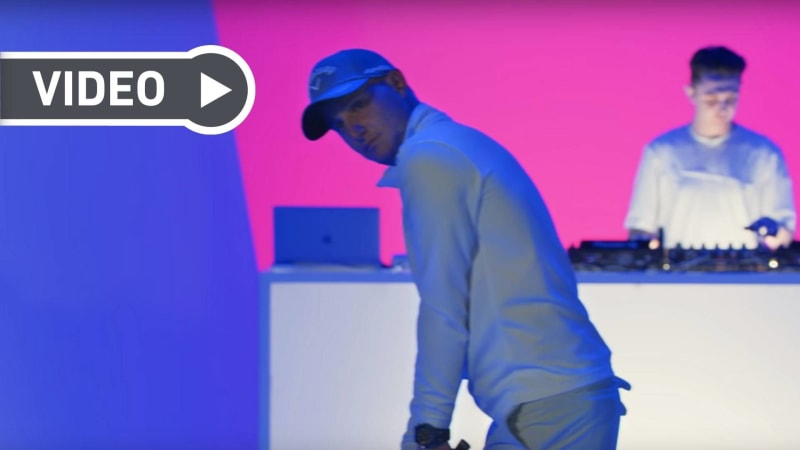 Neun Golfer, ein DJ, ein Song. (Foto: YouTube / Audemars Piquet)