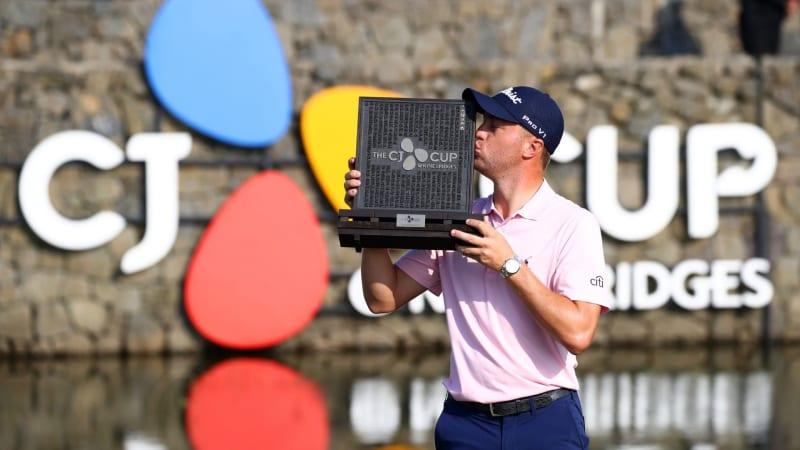Justin Thomas gibt nach wie vor seine Führung nicht ab und gewinnt den CJ Cup der PGA Tour. (Foto: Getty)