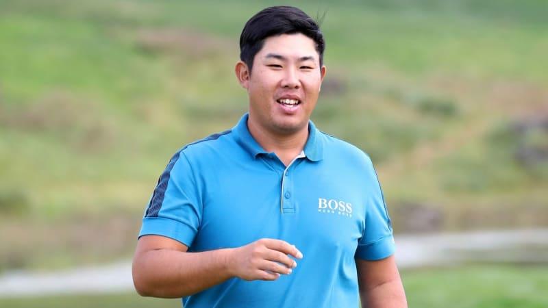 Ein sichtlich zufriedener Byeong Hun An nach der ersten Runde auf der PGA Tour. (Foto: Getty)
