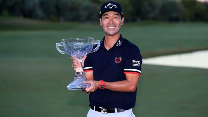 Kevin Na darf zum vierten Mal auf der PGA Tour den Siegerpokal in Empfang nehmen. (Foto: Getty)