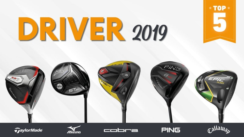 Die Golf Post Top 5 Driver des Jahres 2019. (Foto: TaylorMade, Mizuno, Cobra, Ping, Callaway)
