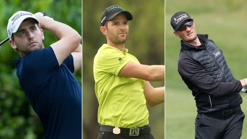 Nicolai von Dellingshausen, Marcel Schneider und Sebastian Heisele (v.l.n.r.) treten beim Challenge Tour Grand Final an. (Fotos: Getty)
