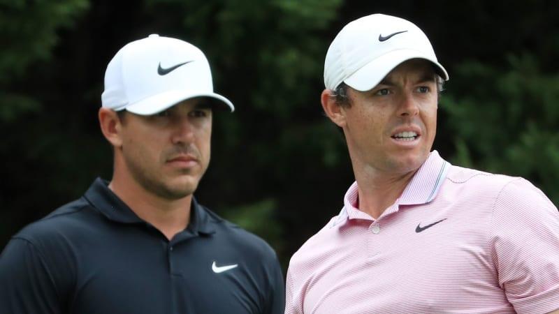 Brooks Koepka und Rory McIlroy im Vergleich. (Bildquelle: Getty)