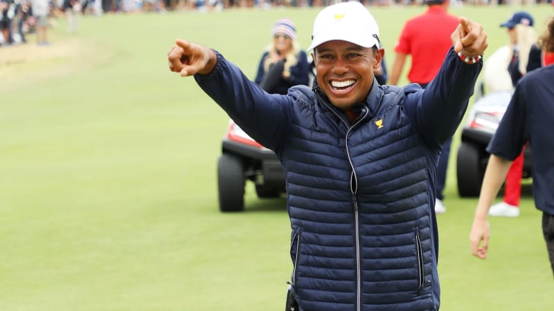 Tiger Woods beim Presidents Cup 2019. (Foto: Getty)