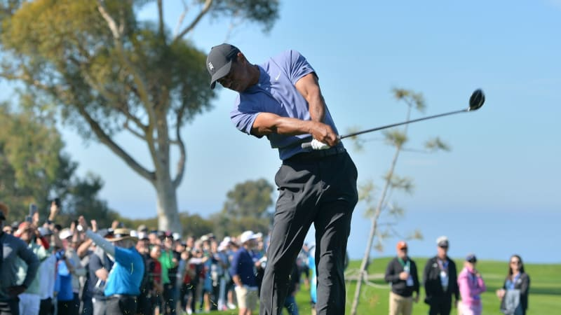 Tiger Woods in der ersten Runde der Farmers Insurance Open 2020 der PGA Tour. (Foto: Getty)