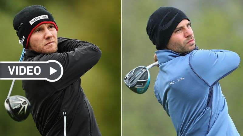 Max Kieffer (li.) und Bernd Ritthammer geben wertvolle Tipps, wie man sich im Winter vernünftig auf eine Runde Golf vorbereitet. (Fotos: Getty)