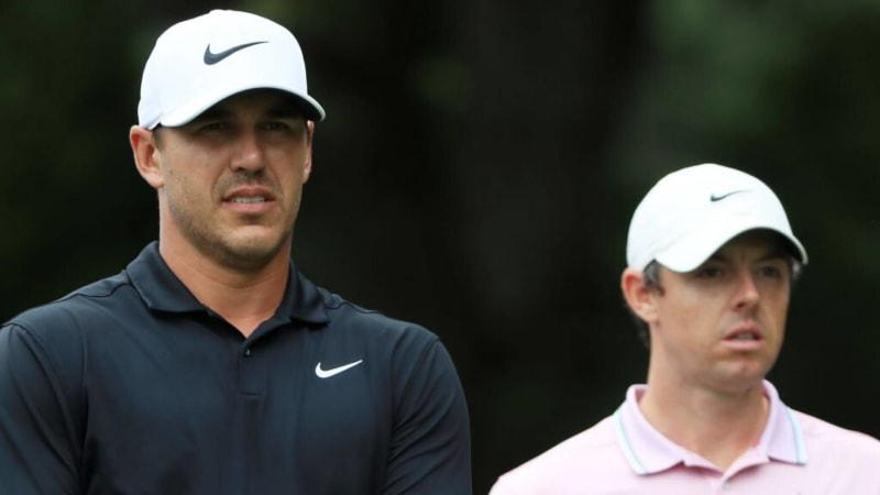 Seit Monaten dominiert dieses Duo die Golfwelt und weilt an der Spitze der Weltrangliste: Books Koepka und Rory McIlroy. (Foto: Getty)