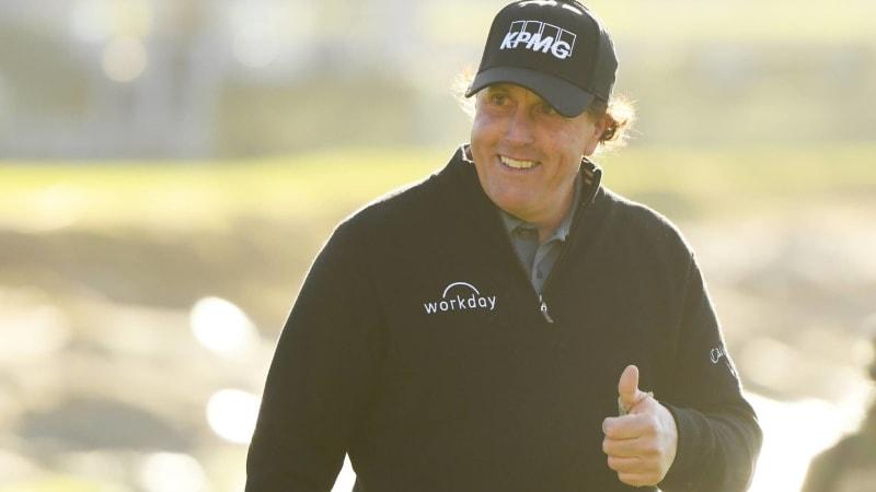 Host auf der PGA Tour und Spieler mit Aussicht auf die Trophäe: Phil Mickelson. (Foto: Getty)