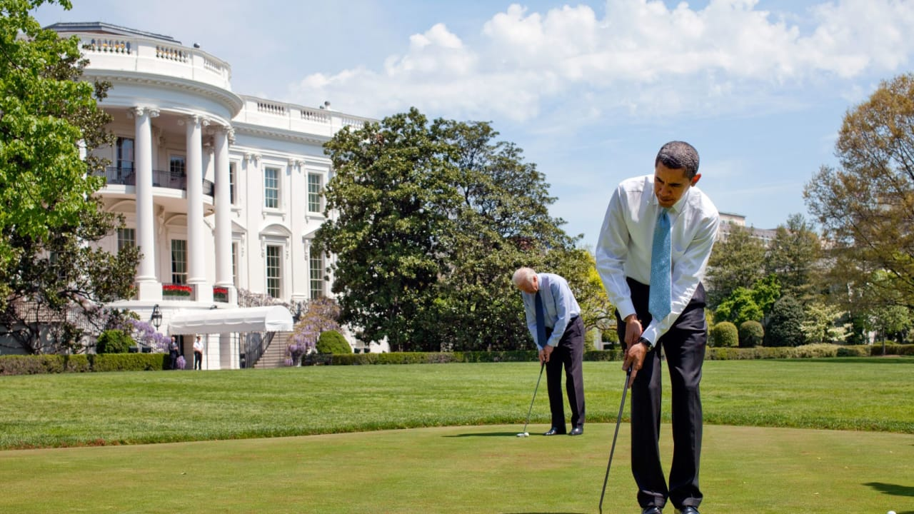 Obama golft