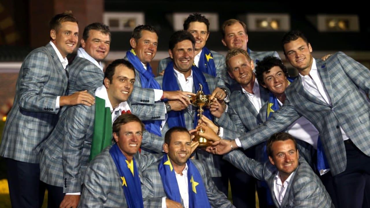 Das europäische Ryder-Cup-Team mit Martin Kaymer