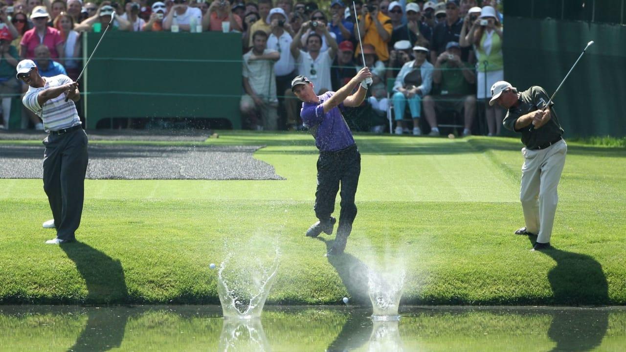 Laser Entfernungsmesser Wasseroberfläche : Golf masters in augusta loch 16 hole one
