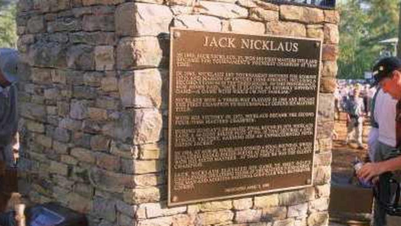 Jack Nicklaus Gedenktafel
