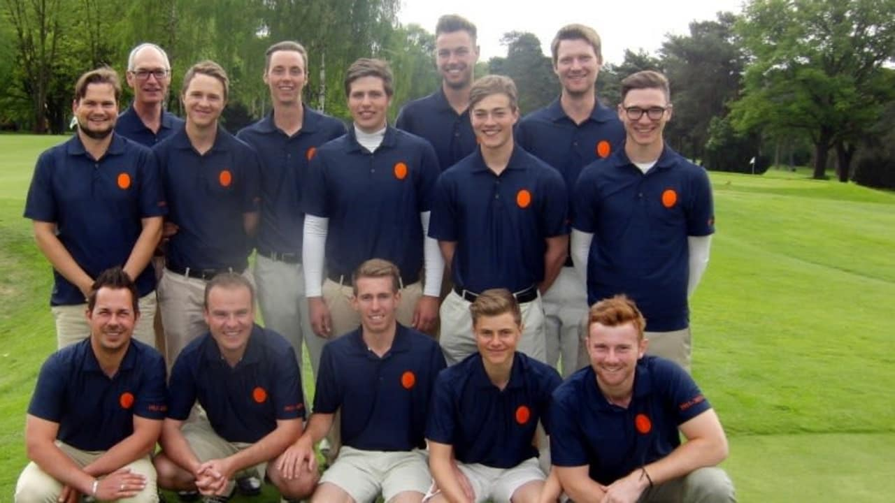 Die Herrenmannschaft des Frankfurter Golfclub